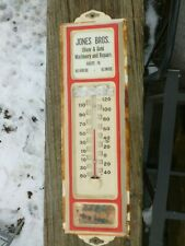 Oliver & Gehl Farm Machinery Thermometer JONES BROS. Belvidere IL. Metal Sign