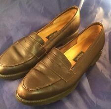 Brown Leather Rockport Penny Loafers Size 6.5 M Shoes