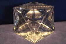 schwerer Kristall Aschenbecher 870g - geschliffen - Ascher - Zigaretten