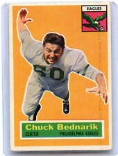 1956 TOPPS FOOTBALL #28 CHUCK BEDNARIK, PHILADELPHIA EAGLES, HOF, 070816