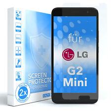 EAZY CASE 2x Glasdisplayschutz für LG G2 Mini Schutzglas Folie Hart Glasfolie 9H
