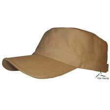 Hemp/Organic Cotton Military Cap - Khaki
