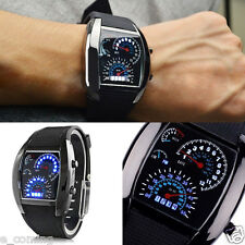USA Men's Stainless Steel Luxury Sport Analog LED Aircraft Wrist Watch reloj