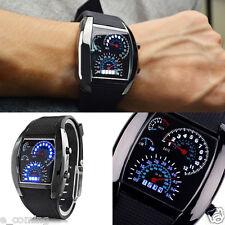 USA Men's Stainless Steel Luxury Sport Analog LED Aircraft Wrist Watch reloj