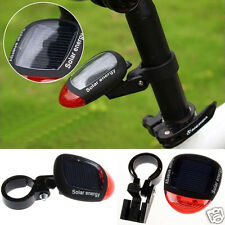 Solar Powered Flashing LED Rear Tail Light for Bicycle Bike Cycling Lamp Safety