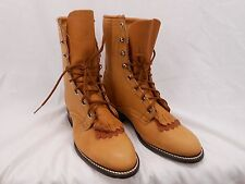 Laredo 77232 Womens 6.5 M Genuine Leather Vintage Old Western Boots Brown New
