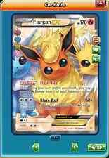 Fa Flareon-ex full art for Pokemon TCG Online (en Game ptcgo Card)
