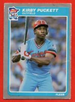 1985 Fleer #286 Kirby Puckett LOW GRADE ROOKIE RC Hall of Fame Minnesota Twins