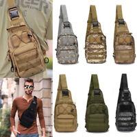 Mens Tactical Sling Chest Bag Assault Pack Messenger Cross body Shoulder Bag US