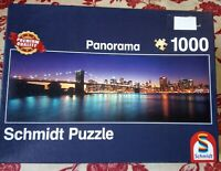 Schmidt Jigsaw Puzzle 1000 piece New York at night Panorama Complete VGC Skyline