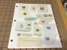original Vintage: embossed Political/ etc - envelope papers, 2 sides, #2