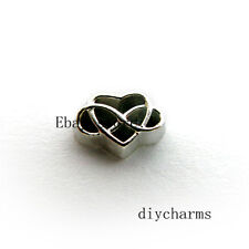 10pcs Heart & Infinity Floating Charms Fit Living Memory Glass Locket FC1400