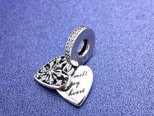 Pandora silver Bead charm authentic HEART OF WINTER CHRISTMAS DANGLE 796372CZ
