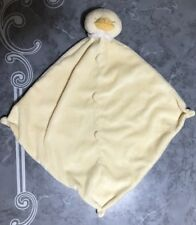 """DUCK Lovey Yellow Baby Security Blanket  13""""x 13"""""""