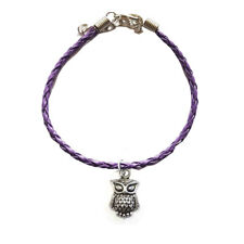 Leather Bracelet,Boho,Bohemian,Go th,Bird,Cute Silver Owl