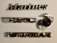 Marine USMC Semper Fi EGA Eagle Globe & Anchor Car Emblem New