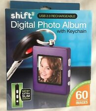 Shift 3 USB 2.0 Rechargable Digital Photo Album with Keychain