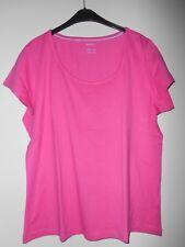 Neues Damen-T-Shirt mit großem Rundhals,pinkfarben,sehr schön verarbeitet,Gr.XL