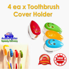 4x Portable Suction Anti-bacterial Toothbrush Travel Cover Case Holder Protector