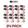 24 Pack Webcam Cover 0.92mm Ultra-Thin Laptop Web Camera Cover Slide Red Circle