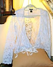 Moda International Pale Pale Blue All Lace Jacket