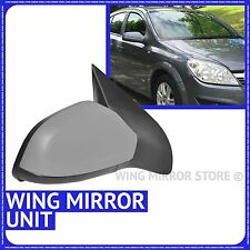 Wing Mirror Primed Electric Heated Right side for Vauxhall Astra H 04-09