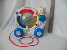 Fisher Price Sparkling Symphony Drum Along Bear Pull Toy 71696 Mattel lights up