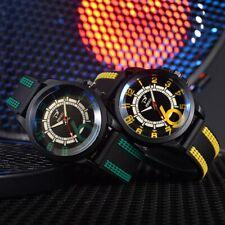 Mens Luxury Watches Brands Fashion Silicon Analog Sports Unisex Womens Timepiece