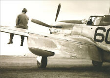 Tuskegee Pilot Sitting On Wing Of Airplane Avanti America Encouragement Card