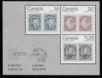 Canada Scott #756a, Souvenir Sheet 1978 Complete Set FVF MNH
