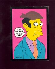 THE SIMPSONS DISAPPEARING INK INSERT CARD D1 PRICIPAL SKINNER 1994   COMIC KINGS
