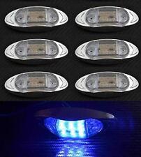 6x LED INTERMITENTE LATERAL AZUL Luces Cromo camión para MAN DAF VOLVO CLARO