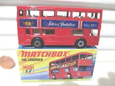"Lesney Matchbox MB17B 1977 ""The Londoner"" Red SILVER JUBILEE 1952-1977 Bus NuBxd"