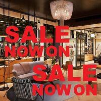 2x SALE NOW ON Shop Window Vinyl Stickers Retail Store Sign Display Decals 55x27