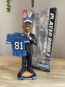 "CALVIN ""Megatron"" JOHNSON Detroit Lions 2007 NFL Draft Day Bobblehead #/504 NIB!"