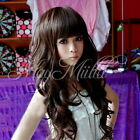 Woman Girl Chic Long Curly Wavy Cosplay Full Party Wigs Hair With Wig Cap H