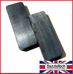 Ferrite Block Magnet - 50 x 19 x 6mm - High Strength Ferrite Magnet Pack of 2