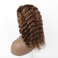 "Half Price! 12"" #4/27 Deep Wave 100% Human Hair Hand Tied Full Lace Wig"