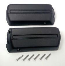 "Pair Black Arm Rest Bases 11-1/2"" 1968-72 GM A-B-F-X Body Armrests w/ Screws"