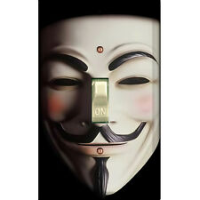 Guy Fawkes Mask - Single Decorated Light Switch Cover - DS-114