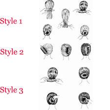 Black French Style Hair Styling Donut Bun Clip Twist Maker Holder Hair Roller