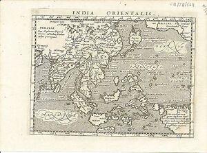 Antique map, India Orientalis