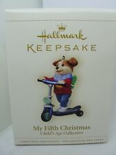 2006, MY FIFTH CHRISTMAS, CHILD'S AGE COLLECTION,BOY HALLMARK KEEPSAKE ORNAMENT