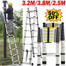 Collapsible Telescoping Ladder Folding Telescopic Ladders Extension Aluminum US