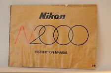 Nikon N2000 F-301 Camera instruction manual ORIGINAL instructions owner's guide