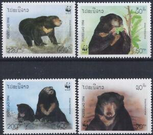 LAOS 1994 FAUNA Animals BEARS WWF - MNH