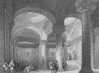 Jerusalem GOLDEN GATE INTERIOR OLD CITY WALLS MESSIAH ~ 1835 Art Print Engraving