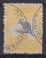 K948) Australia 1918 5/- Grey & yellow 3rd wmk. Kangaroo BW 44,