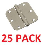 National Hardware Residential Door Hinge, Satin Nickel, 3-1/2inch  (25 Hinges)