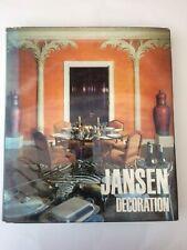 JANSEN Décoration 1971 Art Deco architecture intérieur Design Livre Rare